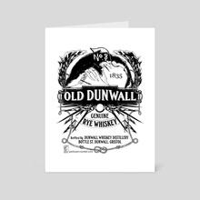 Dunwall Whiskey - Linework - Art Card by Frances Lane