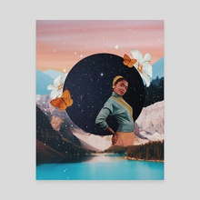 Aquarius babe. - Canvas by Sadie Birchfield Whywake Creative.
