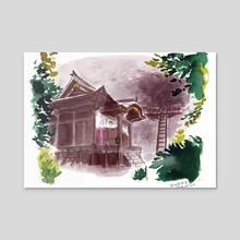 Iwaya-ji temple - Acrylic by Birgitte Johnsen
