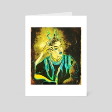Lucas - Yestoday drawing - Art Card by Xanthe P Russell