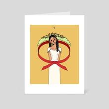 verdant equator - Art Card by pollyy clunes