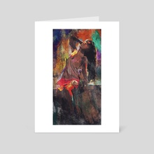 Fences Abstract Portrait - Art Card by Galen Valle