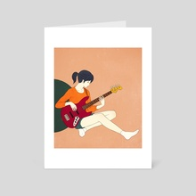 Playing the bass - Art Card by Sai Tamiya