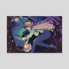 Howl and Sophie (Dark Vers) - Canvas by Liz Lathem