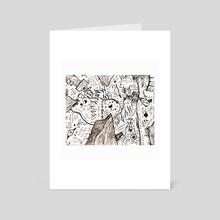 Print of Madness - Art Card by Trizton Delbaugh