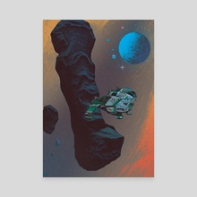 Asteroid Crossing - Canvas by Paul Rivoche