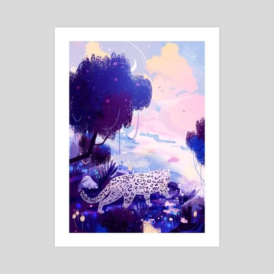 White Leopard by Lorini Art