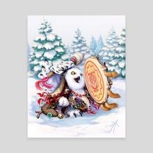 owl Siberian shaman - Canvas by Vladimir Arzevitin