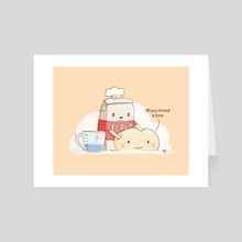 All You Knead is Love - Art Card by Katrina Constantine