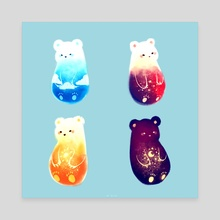 SKY BEARS - Canvas by Nadia Kim