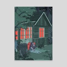 Sleepless night, unsleeping forest - Canvas by Kuura Koskinen