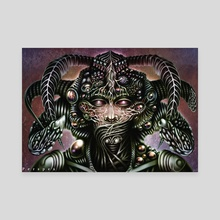 Biomechanical Bust - Silence  - Canvas by Perspex