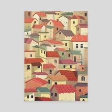 Kosovo Rooftops - Canvas by Eros  Dervishi