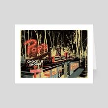 A Quaint Little Town - Art Card by Valentine Smith