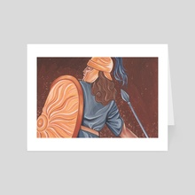 Warrior Woman - Art Card by Andrea Lhotska