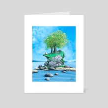 Disc Golf - Island Hole by John Dorn  - Art Card by John Dorn
