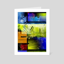 Abstract time - Art Card by Bruce Rolff