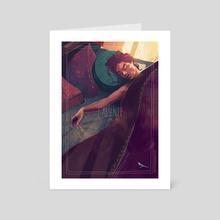 Sleeping lover - Art Card by Charlie Baudeigne