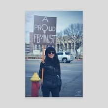 Proud Feminist - Canvas by Robbie Edwards
