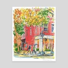 Bleecker Street, Manhattan NY - Canvas by Helen Denisevich