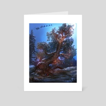Festive Tree - Art Card by Sam Lee