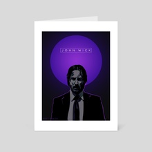 John Wick Poster - Art Card by Kazi Sakib