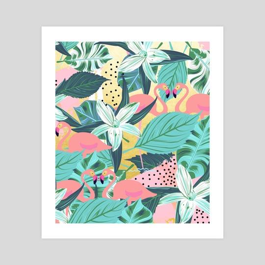 Flamingo Tropical by 83 Oranges