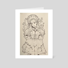 Ink Drawing XII - Art Card by Jasmin Darnell