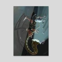 Artistism v/s Criticism 1 - Acrylic by Evgeni Hristov
