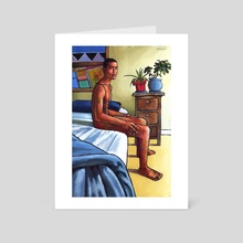 Waikiki Sunday - Art Card by Douglas Simonson