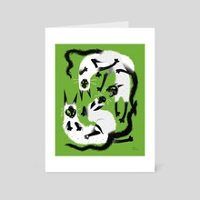 Playtime Retro Green - Art Card by Essi Tommila