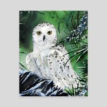 """Snowy Owl""  - Canvas by Dean Lewis"