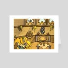 Hufflepuff Common Room - Art Card by Işınsu Deniz Türk