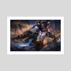 Crowfall - Raging Bull - Art Print by Crowfall