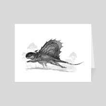 Gnome and Dimetrodon - Art Card by Shaun Keenan
