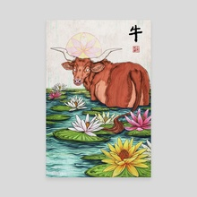 Year of the Ox - Canvas by Kiri Yu