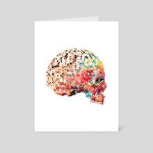 Skull Digital Art - Art Card by Thorsten Schmitt