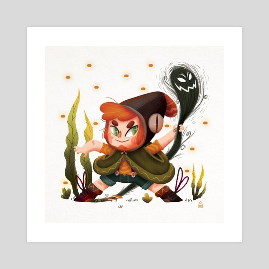 Little witch - shadow by Anthony MOULINS