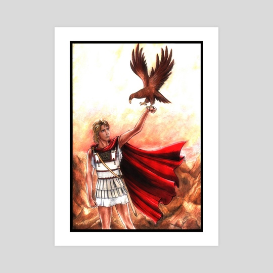 Alexander The Great With Eagle Fanart  by Aurora Borealis