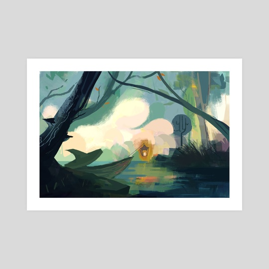Autumnal swamp by Noëlle Kröger