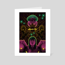 Metroid & Samus - Art Card by Party in the Front