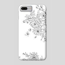 Dahlias - Phone Case by Natasha Fadeeva