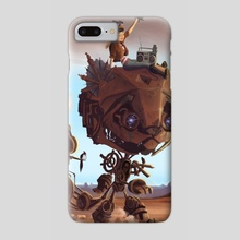 Robot Cat - Phone Case by Maxime Chiasson Art