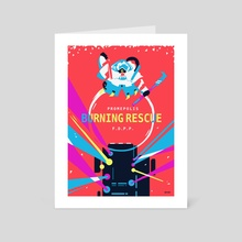 Burning Rescue - Art Card by SNIP●SNIP