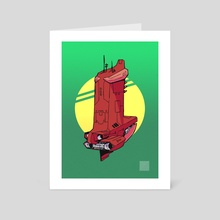 Spaceship - Art Card by dwi iswahyudi