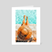 By The Pool All Day - Art Card by 83 Oranges