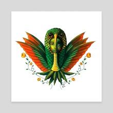 Hummingbird Warrior - Canvas by Kosme