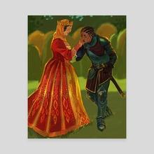 Loyal Knight - Canvas by Marina Vermilion
