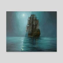 By Moonlight - Acrylic by Candra Hope