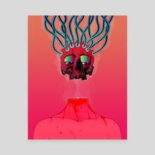 Binary Death - Canvas by Harry Williams